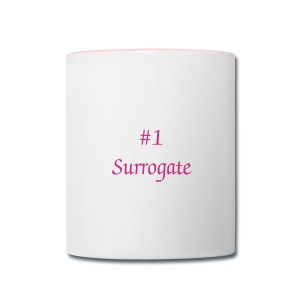 No 1 Surrogate Mug - Contrast Coffee Mug