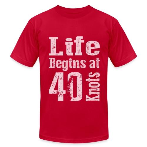 Life Begins at 40 Knots - Men's Fine Jersey T-Shirt