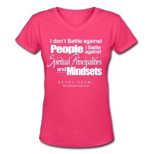 Spiritual Mindsets - Women's V-Neck T-Shirt