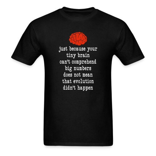 Evolution / Tiny Brain - Men's T-Shirt