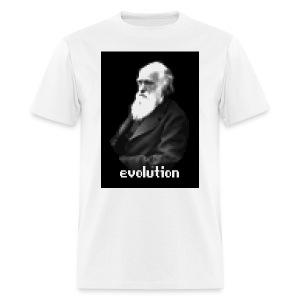 Darwin Pixel Portrait - Men's T-Shirt