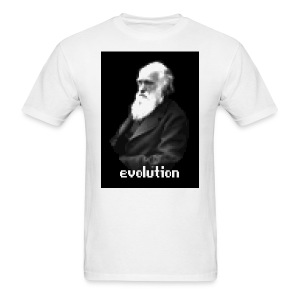 Darwin Pixel Portrait - Men's T-Shirt