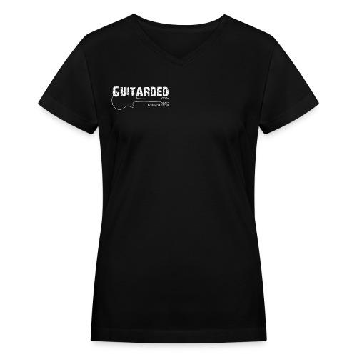 Dual Guitarded Design Women's V-Neck T-Shirt - Women's V-Neck T-Shirt