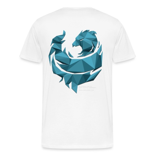 Blue Poly Phoenix - Men's Premium T-Shirt
