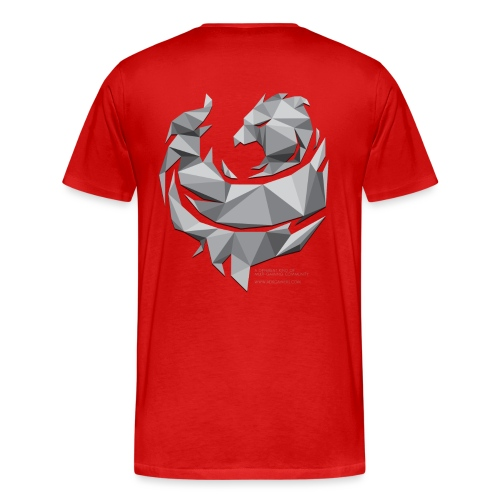 Grey Poly Phoenix - Men's Premium T-Shirt