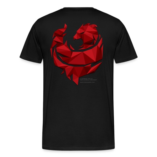 Red Poly Phoenix - Men's Premium T-Shirt