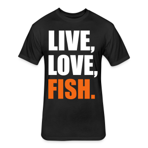 NTA Live Love Fish T-Shirt - Fitted Cotton/Poly T-Shirt by Next Level