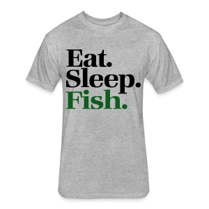 NTA Eat Sleep Fish T-Shirt - Fitted Cotton/Poly T-Shirt by Next Level