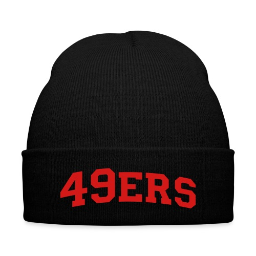 for all you niners fans - Knit Cap with Cuff Print