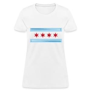 Chicago Baseball Flag - Women's T-Shirt