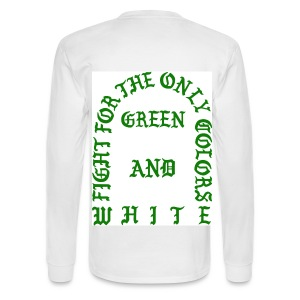 The Life of Sparty White Long Sleeve - Men's Long Sleeve T-Shirt