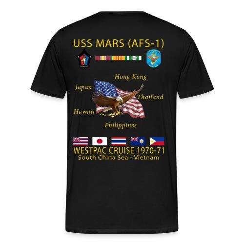 USS MARS 1970-71 CRUISE SHIRT  - Men's Premium T-Shirt