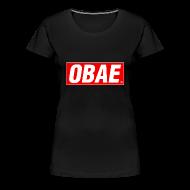 Women's T-Shirts ~ Women's Premium T-Shirt ~ OBAE - Obey Parody Tee