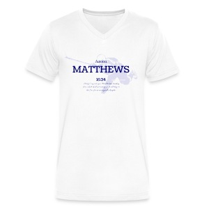 Men's V-neck Matthews 16:34 - Men's V-Neck T-Shirt by Canvas