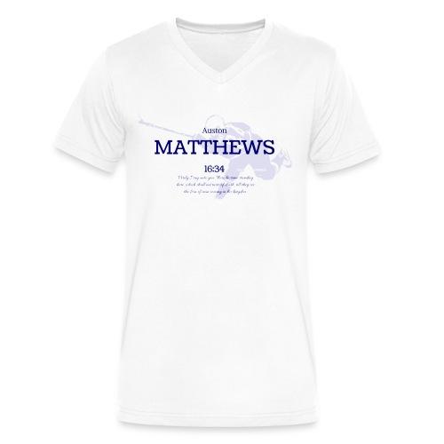 Men's V-neck Matthews 16:34 - Men's V-Neck T-Shirt by Canvas