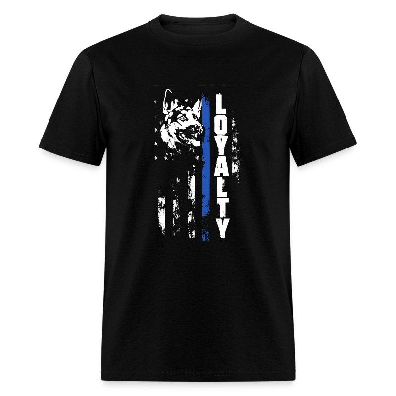 Thin blue line loyalty t shirt spreadshirt for Texas thin blue line shirt