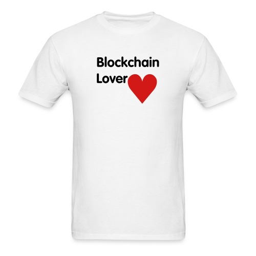 Blockchain Lover - Black Text - Men's T-Shirt