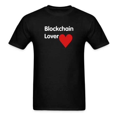 Blockchain Lover - White Text - Men's T-Shirt
