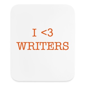 I HEART WRITERS - Mouse pad Vertical