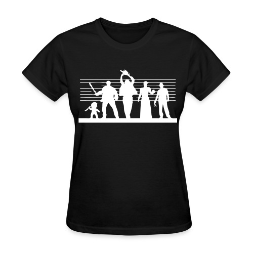 Horror Icon Line-Up - T-shirt (inverted colors) - Women's T-Shirt