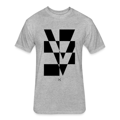 LTTR V - Fitted Cotton/Poly T-Shirt by Next Level