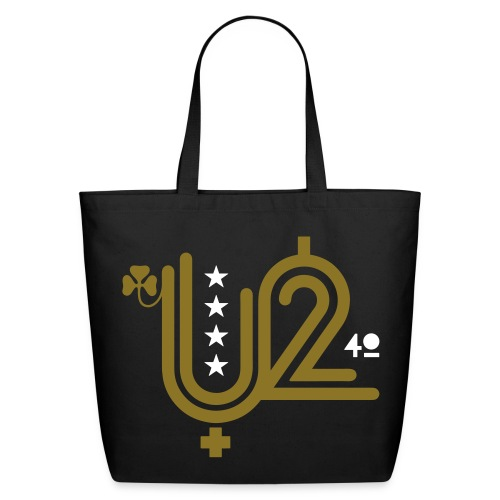 U+2=40 - front print gold - one size - Eco-Friendly Cotton Tote