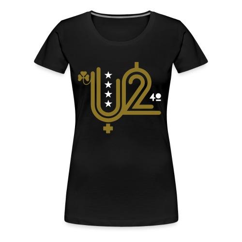 U+2=40 - front print gold - s/3xl - Women's Premium T-Shirt