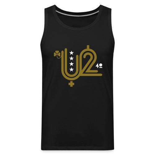 U+2=40 - front print gold - s/3xl - Men's Premium Tank