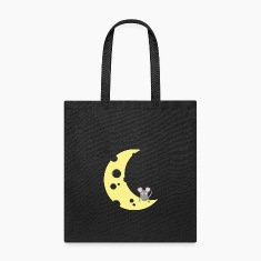 mouse on the cheese moon Bags & backpacks