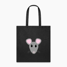 sweet gray mouse face Bags & backpacks