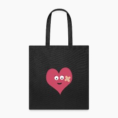 Heart face with patch Bags & backpacks