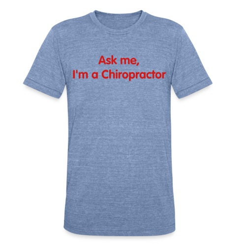 Red White Blue Chiro - Unisex Tri-Blend T-Shirt