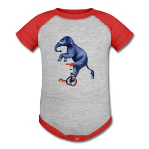 Elephant-Unicycle - Baby Contrast One Piece
