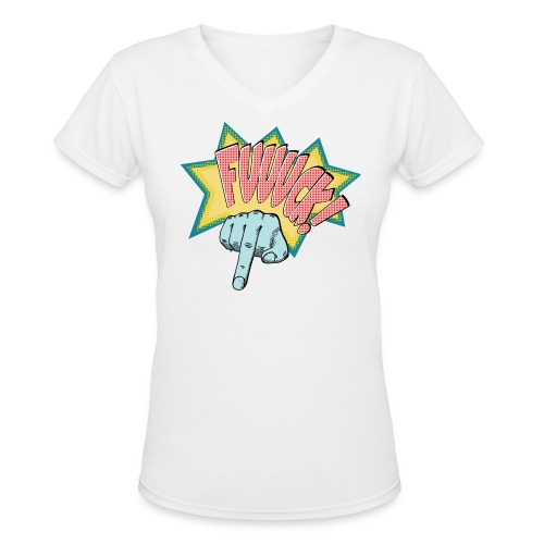 Fuuuck - Women's V-Neck T-Shirt