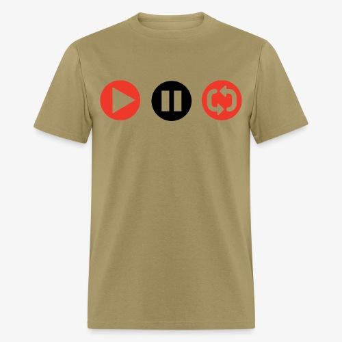 Play, Pause, Repeat - Men's T-Shirt