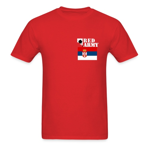 SERBIA Red Army League of Nations Men's T-Shirt - Men's T-Shirt
