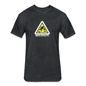 Beer Athlete Warning Tee - Fitted Cotton/Poly T-Shirt by Next Level