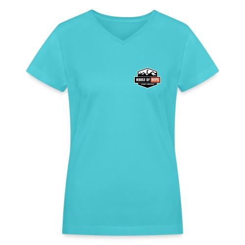 Lifer's not Leaners (Navy) - Women's V-Neck T-Shirt