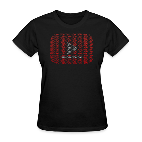 YouTube Logo + BinhThereDoneThat = Too Much of Me Womens - Women's T-Shirt
