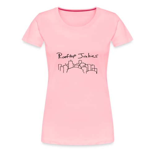 Rooftop Junkies Skyline T-Shirt (Women) - Women's Premium T-Shirt