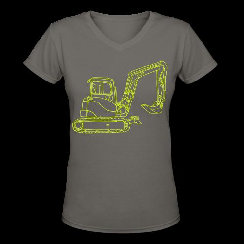 Digger - Women's V-Neck T-Shirt