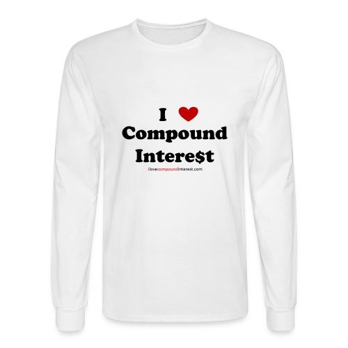 I love compound interest long sleeve t-shirt - Men's Long Sleeve T-Shirt