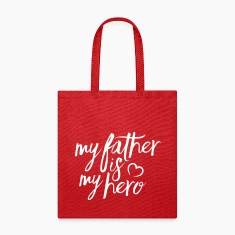 My father is my hero Bags & backpacks