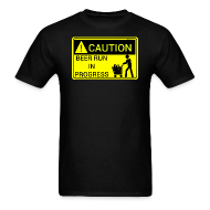 T-Shirts ~ Men's T-Shirt ~ Caution Beer Run In Progress Men's T-Shirt