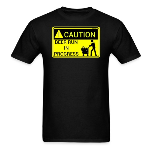 Caution Beer Run In Progress Men's T-Shirt - Men's T-Shirt