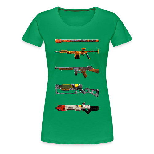 Pixilated Fallout Weapons - Ladys - Women's Premium T-Shirt