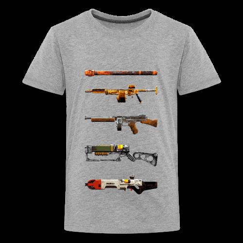 Pixilated Fallout Weapons - Kids - Kids' Premium T-Shirt