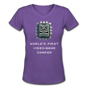 World's First Video Game Camper - Women's V-Neck T-Shirt