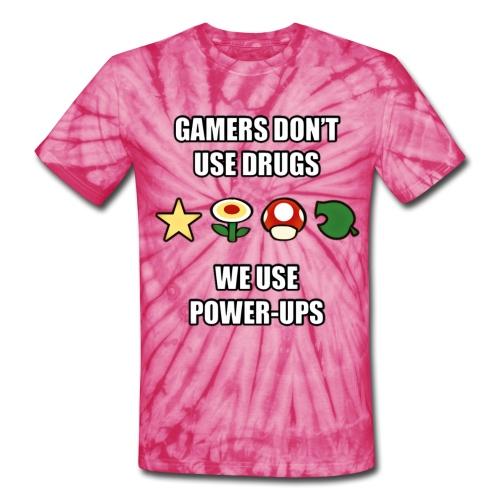 Gamer's Don't Use Drugs - Unisex Tie Dye T-Shirt