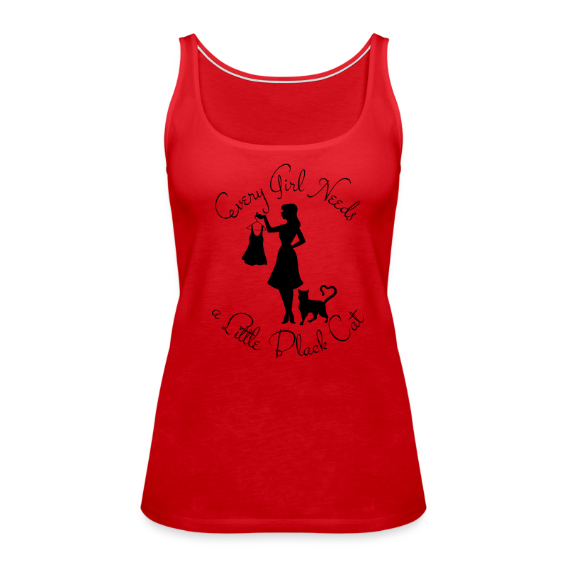 Every Girl Needs a Little Black Cat - Women's Premium Tank Top